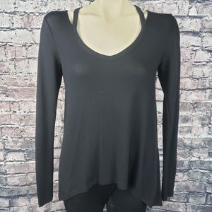 Express Black Stretchy Top XS